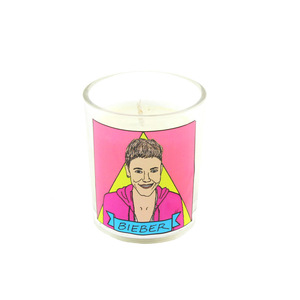 Medium falming idols x beiber candle