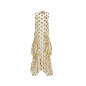 Medium simone rocha embroidered star dress  gold nude