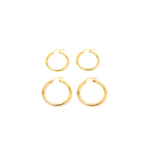 Medium tuza gold hoops
