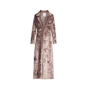 Medium matches rosie asouline notch lapel velvet coat