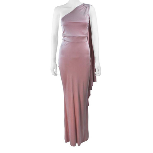 Large large elizabeth mason couture silk jersey one shoulder gown blush made to order lets do enquiry