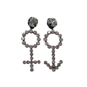 Medium ashley williams symbol earrings