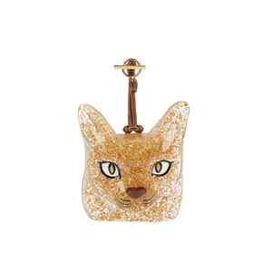 Medium loewe cat face bag charm 1