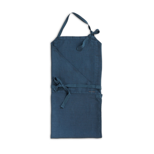 Medium merci merci petrol blue washed apron