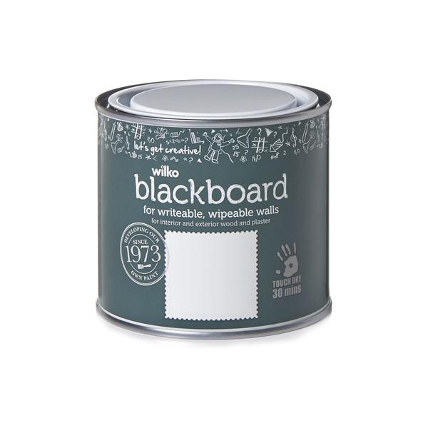 Wilko Quick Dry Blackboard Paint Matt Black 500ml Semaine