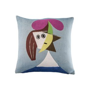 Medium picasso  femme au chapeau  cushion coverjules pansu