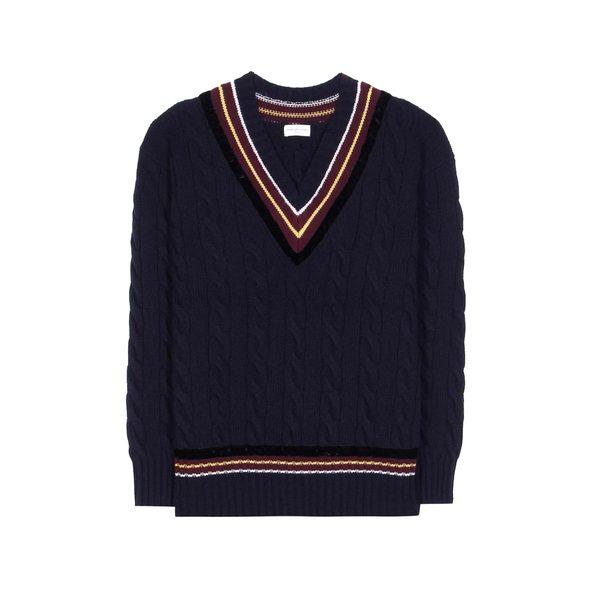 Large dries van noten merino wool and cashmere sweater