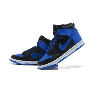 Medium hot sell cheap for sale nike dunk high cut mens shoes fur inside for winter black blue 01