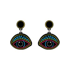 Medium yaz eyes plexiglass earrings