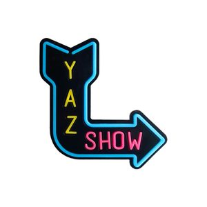 Medium yaz yaz show plexiglass broach