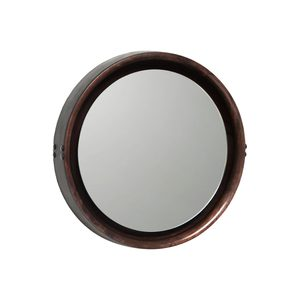 Medium trnk nyc wood and leather sophie mirror