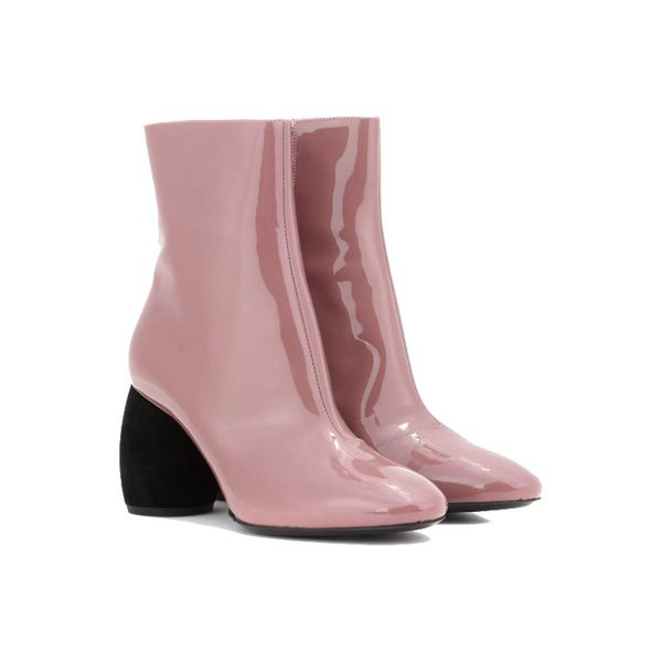 179cf781ca Dries Van Noten - Patent leather ankle boots - pink - Semaine
