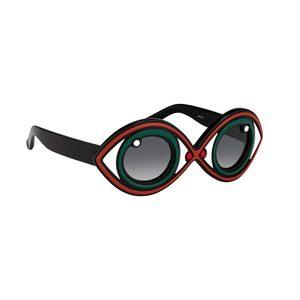 Medium yazbukey   linda farrow yazbukey 2 c2 statement eye sunglasses in green
