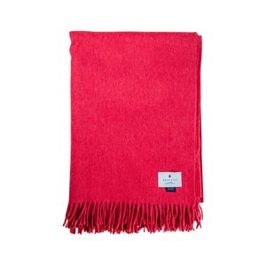 Medium begg   co pomegranate lambswool angora throw