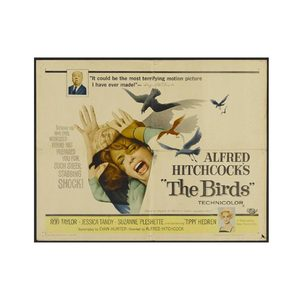 Medium the birds movie poster alfred hitchcock