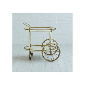 Medium brass and cream drinks trolley