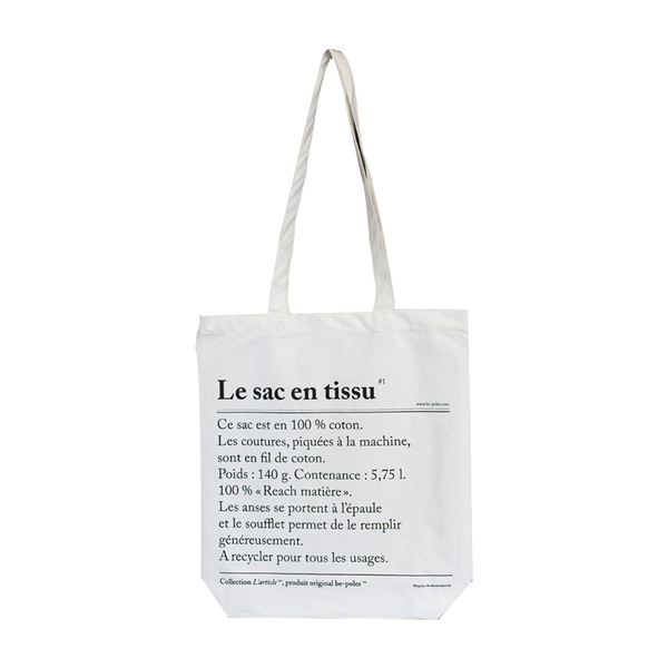 design vintage le sac en tissu tote bag semaine. Black Bedroom Furniture Sets. Home Design Ideas