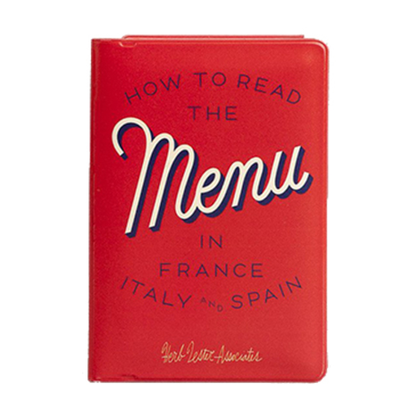 Large book menue how to read a menu