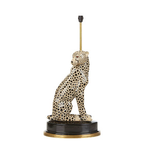 Medium house of hackney cheetah lampstand   multi