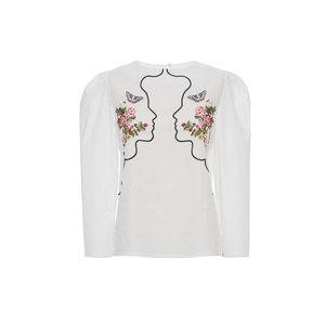Medium moda vivetta embroidered croped