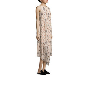 Medium cow drew floral silk dress saks