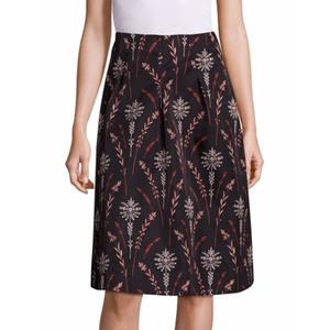 Medium cow floral printed skirt saks