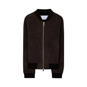 Medium ami suede bomber jacket