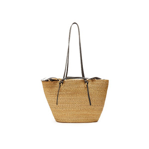 Medium matches fashion muun racco large woven straw tote