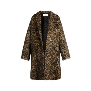 Medium matches raey leopard print wool blend blanket coat