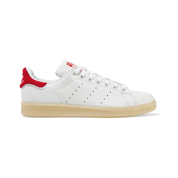 1b5a9468a4a ADIDAS ORIGINALS - Stan Smith Winter terry-trimmed leather sneakers ...