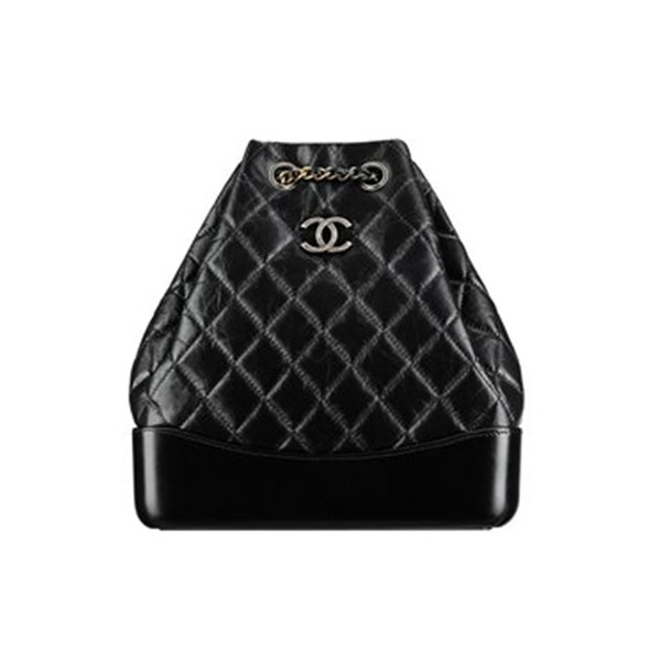 4ac2657474c2b7 chanel - CHANEL's Gabrielle Black Calfskin backpack - Semaine