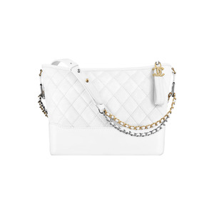 Medium white leather handbag a93824 y61477 10601