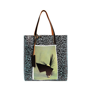 Medium marni pocket print pvc tote