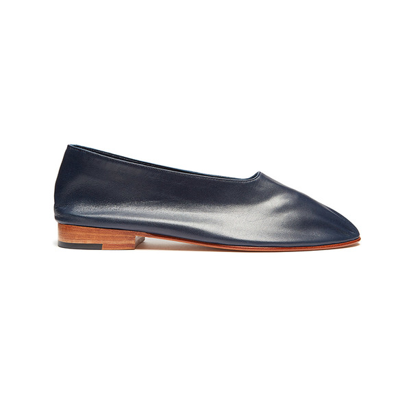 Large martiniano glove leather flats