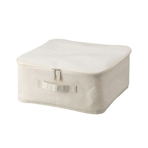 Medium muji cotton linen zip box   w35 x d35 x h16