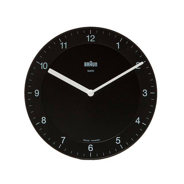 Large need supply co bnc006 analog wall clock black in black