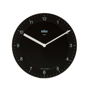 Medium need supply co bnc006 analog wall clock black in black