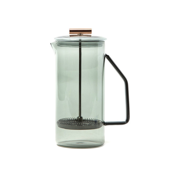 Large need supply co yield design 850ml glass french press in grey
