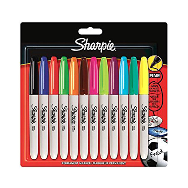 sharpie sharpie fine point permanent marker assorted colours