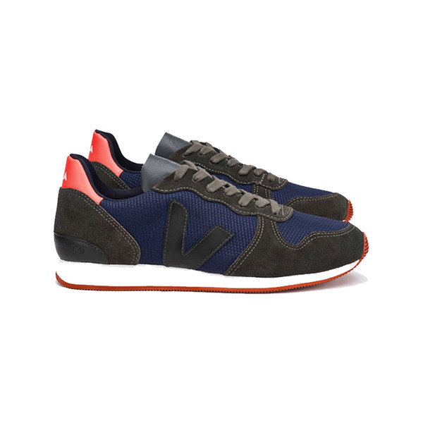 Large veja holiday suede b mesh nautico rust sole
