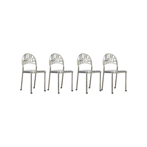 Medium vintage chrome plated hello there chair by jeremy harvey for artifort