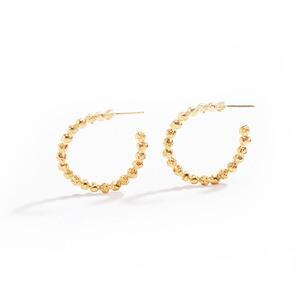 Medium peppercorn hoop earrings