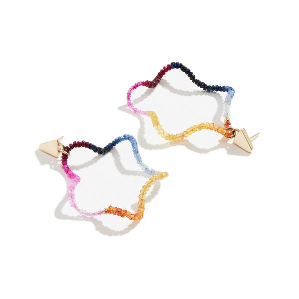 924faf0b751cb Lucy Folk - Twizzler Coloured Hoop Earrings - Semaine