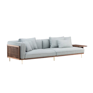 Medium 4. the conran shop 122 belle reeve sofa brass   walnut