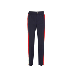 Medium fucci striped wool blend crepe track pants