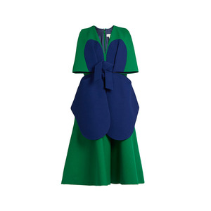 Medium delpozo bi colour structured cotton dress