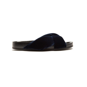 Medium chloe nolan velvet slides