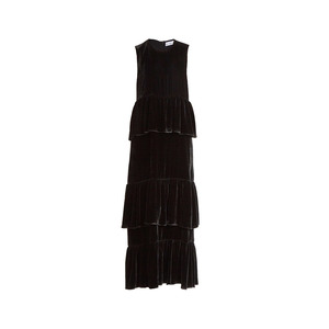 Medium raey tiered ruffled velvet dress