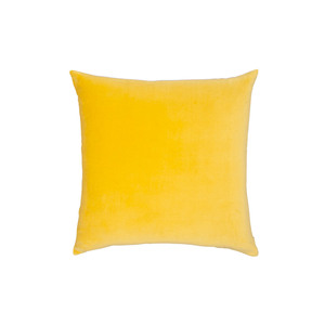 Medium clippings velvet linen cushion