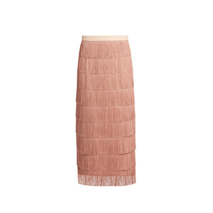 Medium raey long fringed midi pencil skirt